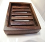 Solid wood soap dish Deluxe